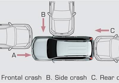 Cinturones de seguridad delanteros y airbags
