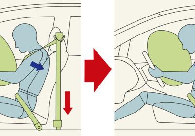 Cinturones de seguridad delanteros de 3 puntos