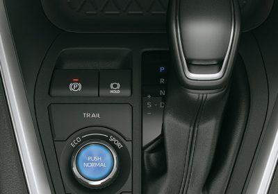 """Freno de estacionamiento eléctrico con función """"auto hold""""."""