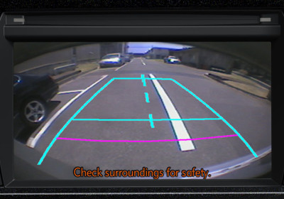 Monitor de cámara de estacionamiento
