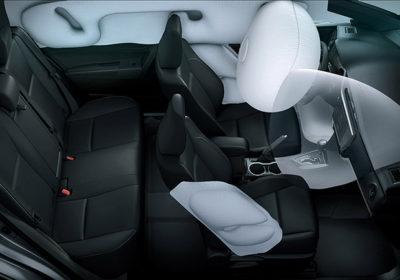 Airbags frontales, laterales, de cortina y de rodilla