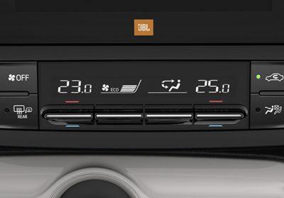 Climatizador digital bi-zona.