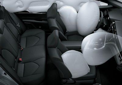Airbags frontales, laterales, de cortina y de rodilla para conductor
