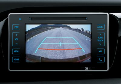 Monitor de cámara de estacionamiento.