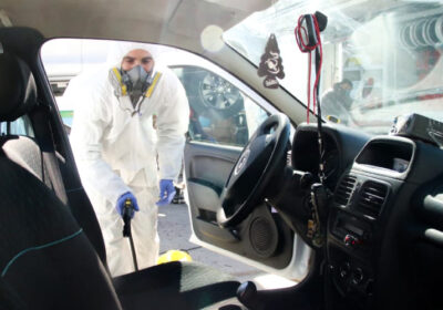 Desinfección de vehículos.